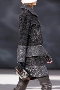Chanel Black Glittered Lego Clutch Bag - Fall 2013 Runway