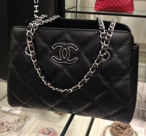 Chanel Black Hampton Large Ping Bag