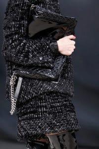 Chanel Black Patent Boy Flap Large Bag - Fall 2013 Runway
