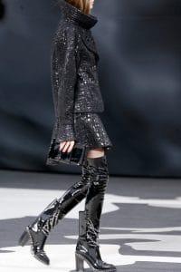 Chanel Black Patent Clutch Bag - Fall 2013 Runway
