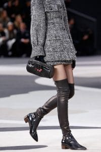 Chanel Black Round Clutch Bag - Fall 2013 Runway