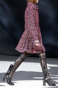 Chanel Black/Pink Tweed Round Clutch Bag - Fall 2013 Runway