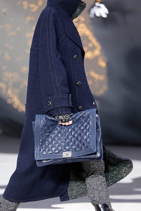 Chanel Blue Boy Flap Large Bag Fall 2017 Runway