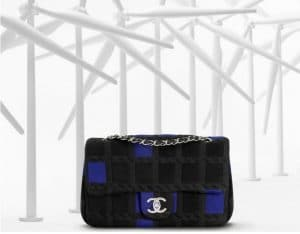 Chanel Blue Plaid Cotton Flap Bag - Spring 2013
