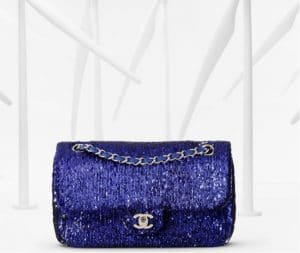 Chanel Blue Sequin Flap Bag - Spring 2013
