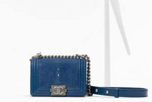Chanel Blue Stingray Boy Bag - Spring 2013