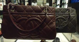 Chanel Burgundy and New Grey Timeless CC Soft Medium Shopper Tote Bags