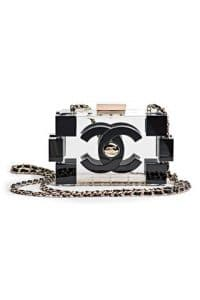 Chanel Clear Lego Clutch Bag