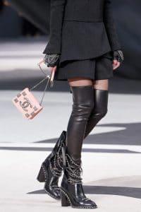Chanel Light Pink Flap Mini Bag - Fall 2013 Runway
