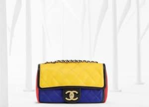 Chanel Black/Red/Yellow/Blue Graphic Flap Bag - Spring 2013