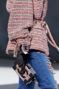 Chanel Multicolor Tweed Lego Clutch Bag - Fall 2013 Runway