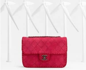 Chanel Pink Suede Flap Bag - Spring 2013