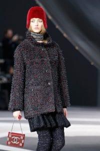 Chanel Red Flap Mini Bag - Fall 2013 Runway