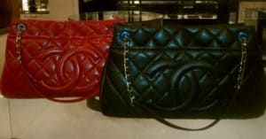 Chanel Red and Black Timeless CC Soft Hobo Bags