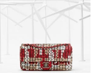 Chanel Red and White Interlaced Flap Bag - Spring 2013
