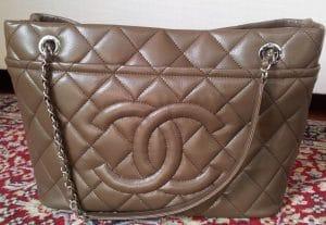 Chanel Taupe Timeless CC Soft Hobo Bag