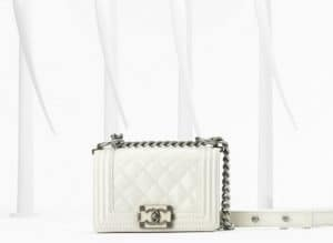 Chanel White Boy Bag - Spring 2013