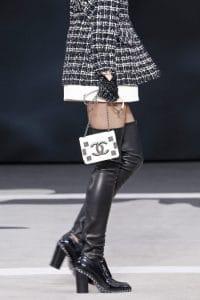 Chanel White Flap Mini Bag - Fall 2013 Runway