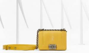 Chanel Yellow Stingray Boy Bag - Spring 2013