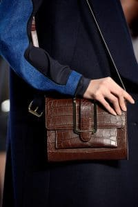 Chloe Brown Crocodile Flap Bag - Fall 2013 Collection