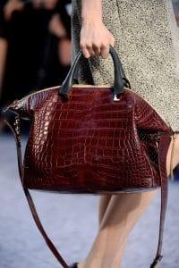 Chloe Burgundy Crocodile Bag - Fall 2013 Collection