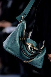 Chloe Green Ostrich Bag - Fall 2013 Collection