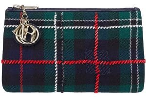 Dior Green Lady Dior Tartan Pouch Bag