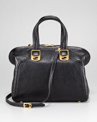 Fendi Black Pebbled Chameleon Small Bag
