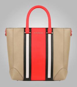 Givenchy Beige/Red/Black/Ivory Lucrezia Mini Shopping Bag - Pre-Fall 2013