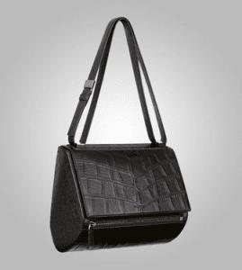 Givenchy Black Crocodile-Style New Pandora Medium Bag - Pre-Fall 2013