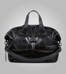 Givenchy Black Crocodile-Style Nightingale Medium Bag - Pre-Fall 2013