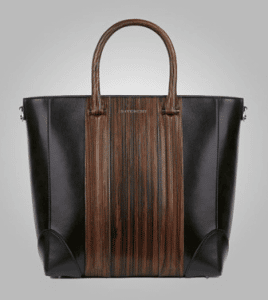Givenchy Brown Wood-Style Lucrezia Small Shopping Bag - Pre-Fall 2013