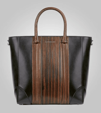 e06d44d662b0 Givenchy Brown Wood-Style Lucrezia Small Shopping Bag - Pre-Fall 2013