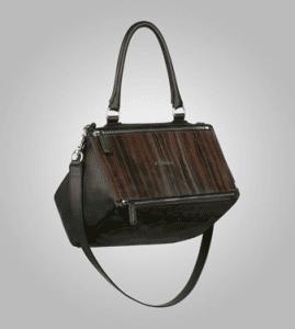 Givenchy Brown Wood-Style Pandora Small Bag - Pre-Fall 2013