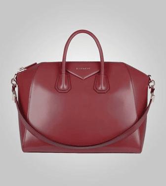 c5349ae660 Givenchy Burgundy Antigona Medium Bag - Pre-Fall 2013