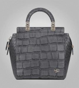 Givenchy Grey Crocodile-Style House De Givenchy Small Bag - Pre- Fall 2013
