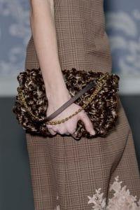 Louis Vuitton Brown Floral Pochette Bag - Fall 2013 Runway