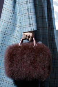 Louis Vuitton Brown Marabou Duffle Bag - Fall 2013 Runway