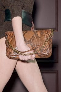 Louis Vuitton Brown Python Pochette Bag - Fall 2013 Runway