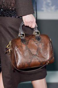 Louis Vuitton Brown Python Speedy Bag - Fall 2013 Runway