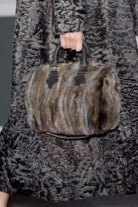 Louis Vuitton Brown:Grey Marabou Duffle Bag - Fall 2013 Runway