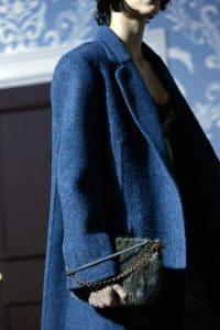 Louis Vuitton Dark Blue Marabou Pochette Bag - Fall 2013 Runway