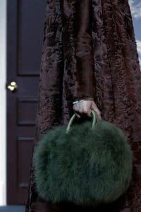 Louis Vuitton Green Marabou Duffle Bag - Fall 2013 Runway