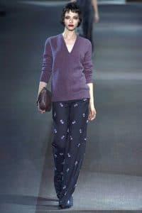 Louis Vuitton Purple Crocodile Bag - Fall 2013 Runway