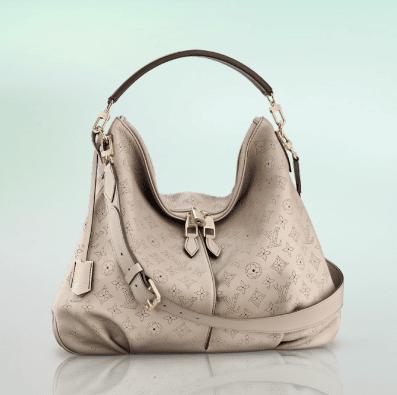 Louis Vuitton Light Beige Sandy Mahina Selene Mm Bag