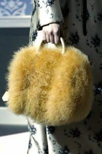 Louis Vuitton Tan Marabou Duffle Bag - Fall 2013 Runway