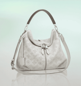 Louis Vuitton White Mahina Selene PM Bag