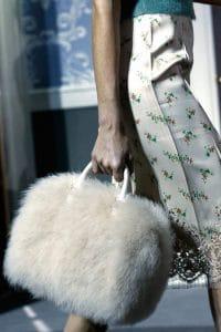 Louis Vuitton White Marabou Duffle Bag - Fall 2013 Runway
