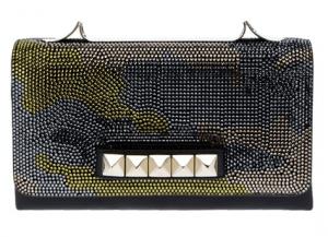 Valentino Black Crystal Embellished Va Va Voom Clutch Bag