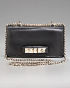 Valentino Black Va Va Voom Clutch Bag